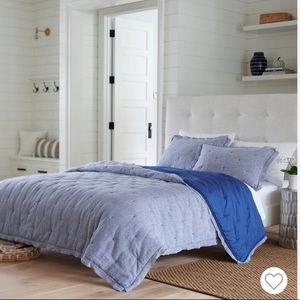 Full/Queen Linen Blend Chambray Quilt